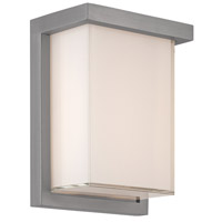 Modern Forms WS-W1408-GH Ledge LED 8 inch Graphite Outdoor Wall Light