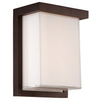 Modern Forms WS-W1408-BZ Ledge LED 8 inch Bronze Outdoor Wall Light