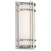 Modern Forms WS-W68612-SS Skyscraper LED 12 inch Stainless Steel Outdoor Wall Light in 12in.