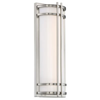 Modern Forms WS-W68618-SS Skyscraper LED 18 inch Stainless Steel Outdoor Wall Light in 18in.