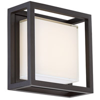 Modern Forms WS-W73608-BZ Framed LED 8 inch Bronze Outdoor Wall Light in 8in.
