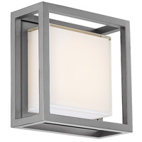 Modern Forms WS-W73608-GH Framed LED 8 inch Graphite Outdoor Wall Light in 8in.