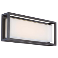 Modern Forms WS-W73620-BZ Framed LED 10 inch Bronze Outdoor Wall Light in 20in.