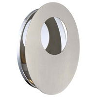 Modern Forms WS-22611-SN Abyss LED 9 inch Polished Nickel ADA Wall Sconce Wall Light