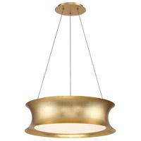 Modern Forms PD-34620-GL Tango LED 20 inch Gold Leaf Chandelier Ceiling Light