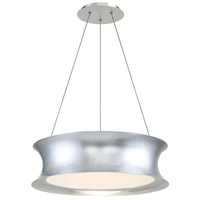 Tango LED 20 inch Silver Leaf Pendant Ceiling Light