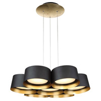Marimba LED 24 inch Gold Leaf Chandelier Ceiling Light in 24in.
