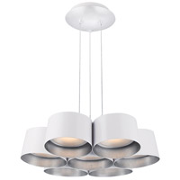 Marimba LED 24 inch Silver Leaf Chandelier Ceiling Light in 24in.