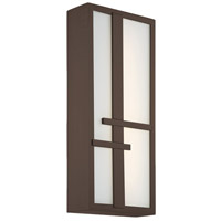 Intersect LED 8 inch Bronze Outdoor Wall Light