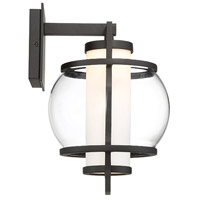 Modern Forms WS-W74612-BK Lucid LED 12 inch Black Outdoor Wall Light in 12in. alternative photo thumbnail