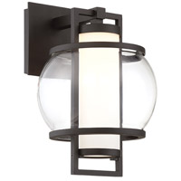 Lucid LED 12 inch Black Outdoor Wall Light in 12in.