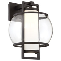 Modern Forms WS-W74615-BK Lucid LED 15 inch Black Outdoor Wall Light in 15in.