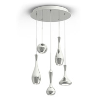 Modern Forms PD-ACID05R-PN Acid LED 17 inch Polished Nickel Chandelier Ceiling Light in 17in., 3350 photo thumbnail