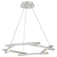 Modern Forms PD-43728-AL Metric LED 8 inch Brushed Aluminum Pendant Ceiling Light in 28in.