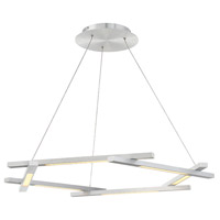 Modern Forms PD-43738-AL Metric LED 12 inch Brushed Aluminum Pendant Ceiling Light in 38in.