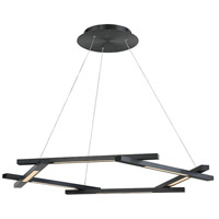 Modern Forms PD-43738-BK Metric LED 12 inch Black Pendant Ceiling Light in 38in.