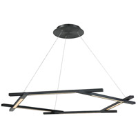 Modern Forms PD-43748-BK Metric LED 12 inch Black Pendant Ceiling Light in 48in.