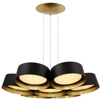 Marimba LED 34 inch Gold Leaf Chandelier Ceiling Light