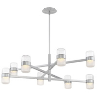 Jazz LED 40 inch Brushed Aluminum Chandelier Ceiling Light in 40in.