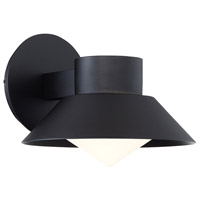 Oslo LED 7 inch Black Outdoor Wall Sconce