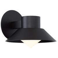 Oslo LED 8 inch Black Outdoor Wall Sconce