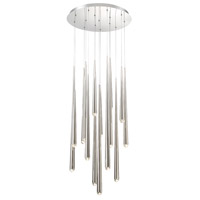 Cascade LED 23 inch Polished Nickel Chandelier Ceiling Light in Round, 23in., 15