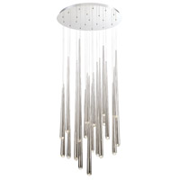 Cascade LED 26 inch Polished Nickel Chandelier Ceiling Light