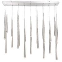Cascade LED 12 inch Polished Nickel Chandelier Ceiling Light in Linear, 23, 12in.
