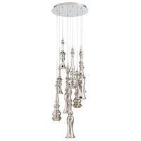 Hookah LED 17 inch Polished Nickel Chandelier Ceiling Light