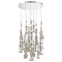 Hookah LED 26 inch Polished Nickel Chandelier Ceiling Light