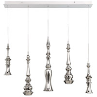 Hookah LED 6 inch Polished Nickel Chandelier Ceiling Light