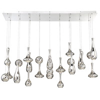 Acid LED 12 inch Polished Nickel Chandelier Ceiling Light