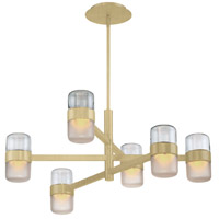 Jazz LED 28 inch Brushed Brass Chandelier Ceiling Light