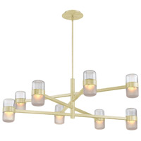 Jazz LED 40 inch Brushed Brass Chandelier Ceiling Light