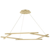 Modern Forms PD-43738-BR Metric LED 12 inch Brushed Brass Pendant Ceiling Light in 38in.