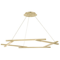 Modern Forms PD-43748-BR Metric LED 12 inch Brushed Brass Pendant Ceiling Light in 48in.