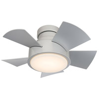 Modern Forms FH-W1802-26L-TT Vox 26 inch Titanium Silver Indoor Outdoor Smart Ceiling Fan, Flush Mounted