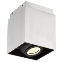 Modern Forms FM-70807-AL Box LED 6 inch Brushed Aluminum Flush Mount Ceiling Light in 7in.