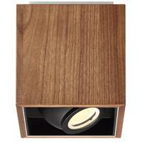 Modern Forms FM-70807-DW Box LED 6 inch Dark Walnut Flush Mount Ceiling Light in 7in.