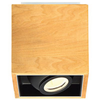Modern Forms FM-70807-WAL Box LED 6 inch Walnut Flush Mount Ceiling Light in 7in.