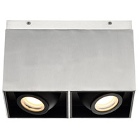 Modern Forms FM-70811-AL Box LED 10 inch Brushed Aluminum Flush Mount Ceiling Light in 11in.