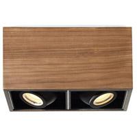 Modern Forms FM-70811-DW Box LED 6 inch Dark Walnut Flush Mount Ceiling Light in 11in.