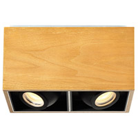 Modern Forms FM-70811-WAL Box LED 6 inch Walnut Flush Mount Ceiling Light in 11in.