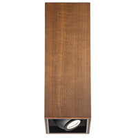 Modern Forms FM-70818-DW Box LED 6 inch Dark Walnut Flush Mount Ceiling Light in 18in.