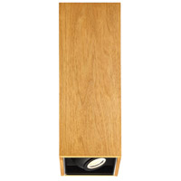 Modern Forms FM-70818-WAL Box LED 6 inch Walnut Flush Mount Ceiling Light in 18in.