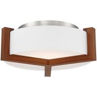 Modern Forms FM-83922-DW Segment 1 Light 21 inch Dark Walnut Flush Mount Ceiling Light