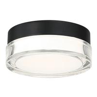 Modern Forms FM-W44806-30-BK Pi LED 6 inch Black Flush Mount Ceiling Light in 6in. 3000K