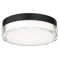 Modern Forms FM-W44809-30-BK Pi 1 Light 9 inch Black Outdoor Flush Mount