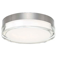 Pi LED 9 inch Stainless Steel Outdoor Flush Mount in 9in., 3000K