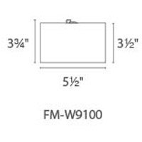 Modern Forms FM-W9100-BZ Vessel LED 6 inch Bronze Outdoor Flush Mount alternative photo thumbnail